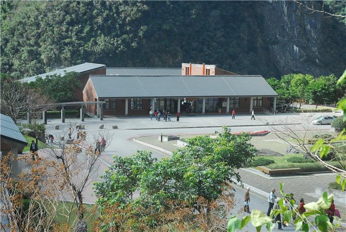 遠眺太魯閣遊客中心