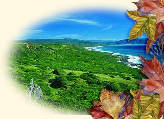 龍磐崩崖海天一色的景致(墾丁國家公園管理處提供)。