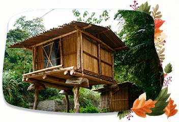 泰雅部落尚存許多早期是防禦建築的竹架高腳屋(雪霸國家公園管理處提供)