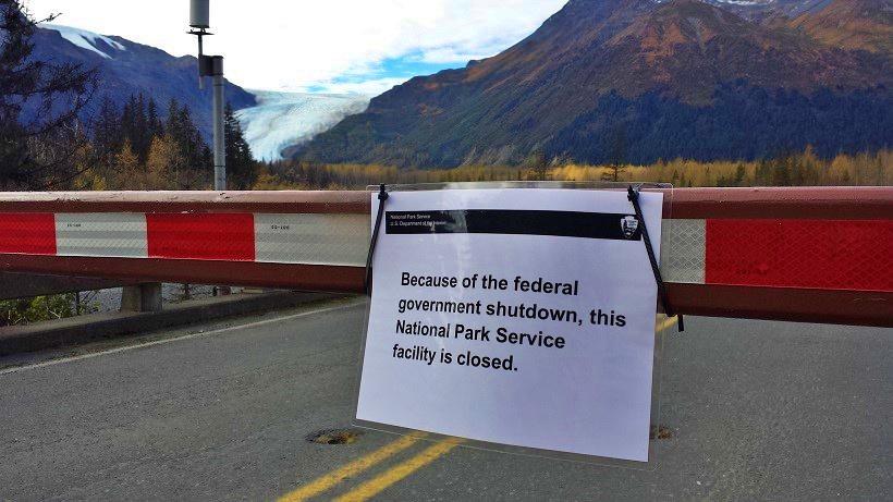 美國國家公園入口告示