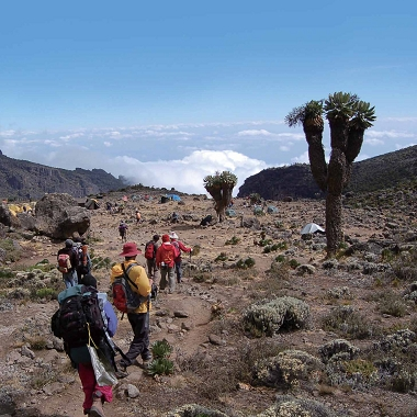 This picture was taken during the climbing of Mt. Kilimanjaro.