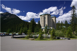 The Fairmount Chateau Lake Louise is one of the representative hotels in the Rockies