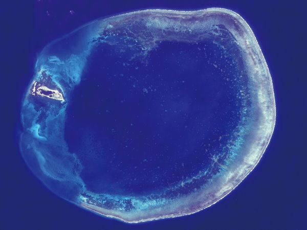 Satellite image of the Dongsha Atoll ( provided by NSPO )