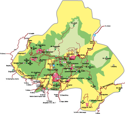 map of Yangmingshan
