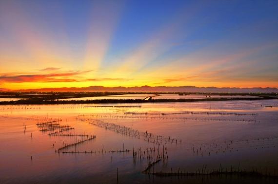 The Beautiful Sunrise of Cigu Lagoon